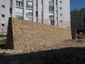 Mur pierres sèches - Autun